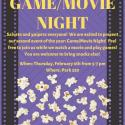 Poster Eta Sigma Phi Game/Movie Night